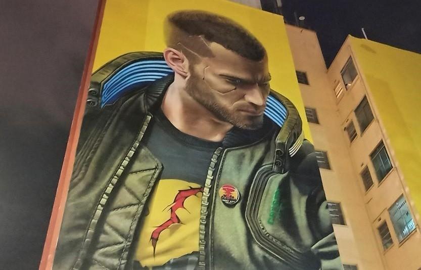 W Brazylii powstał nielegalny mural Cyberpunka 2077. CDP RED ukarane grzywną